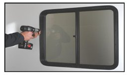 rv window installation step 8